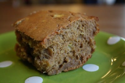 Banana Cake with Peanut Flour