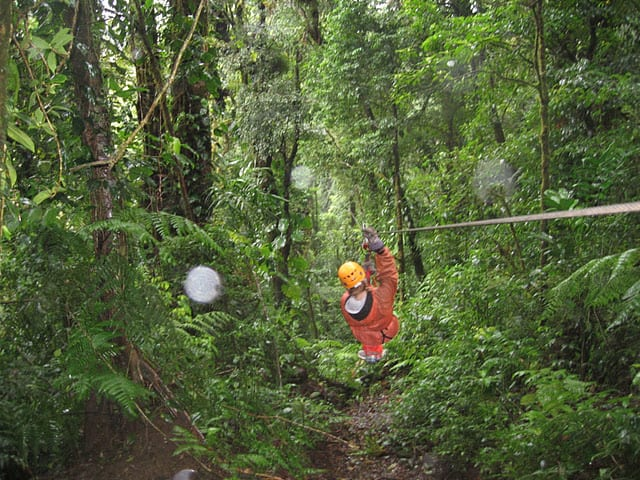 zip lining Thanksgiving in Costa Rica