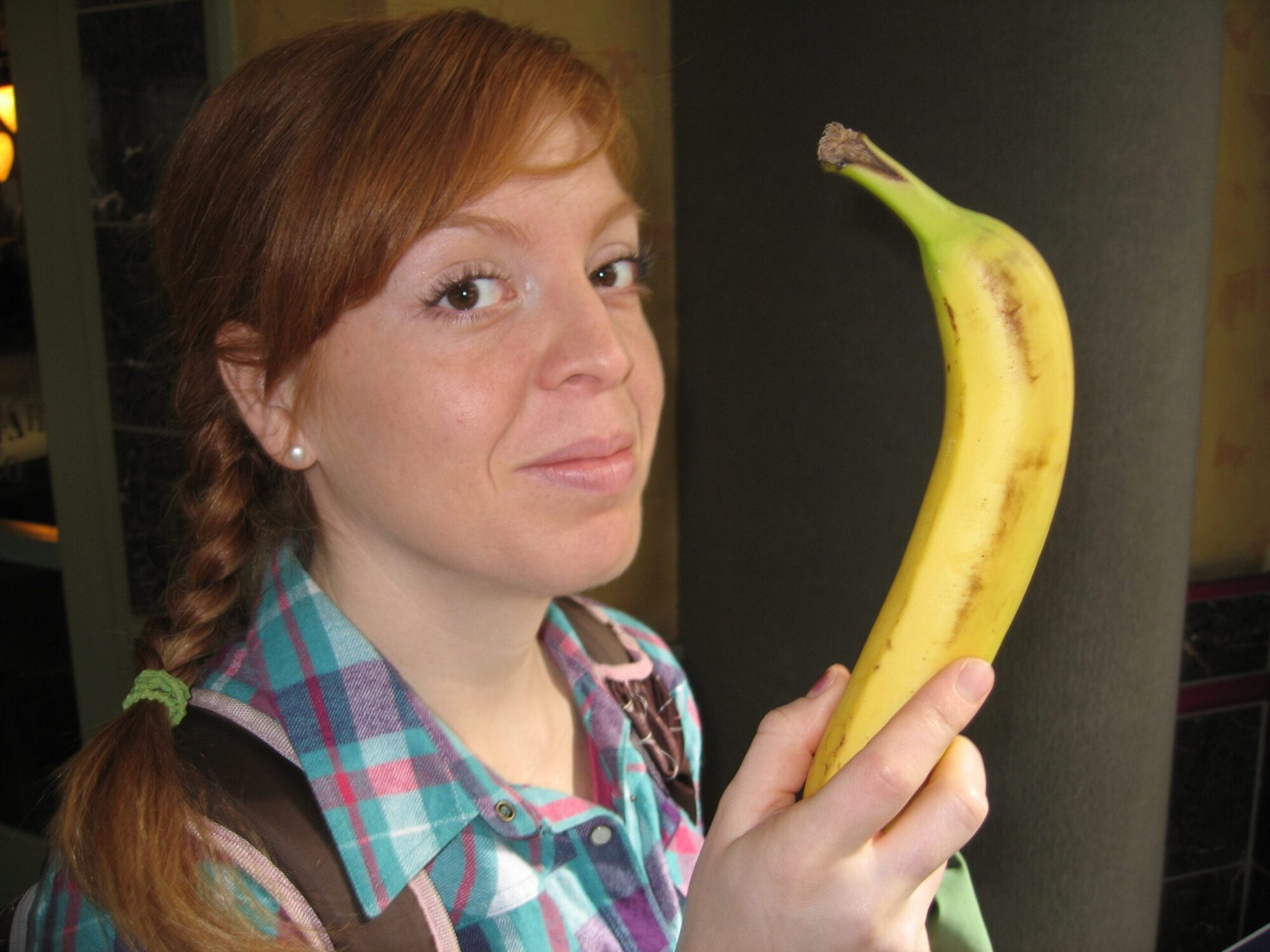 Is that a banana in your purse?