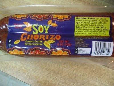 IMG 4724 400x300 Soy Chorizo for dinner