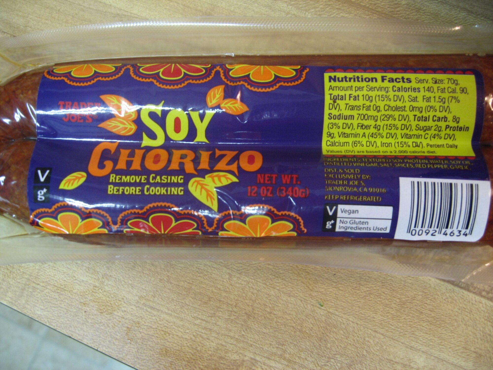 Soy Chorizo for dinner