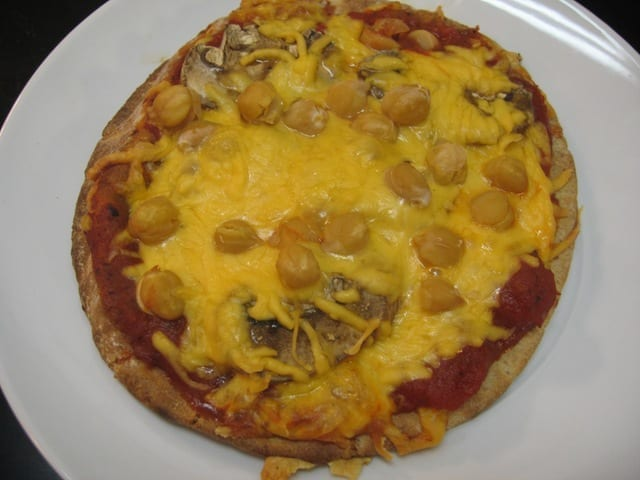 Chickpea Pizza and Cheerios!