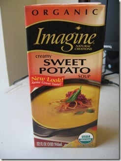 organic sweet potato soup