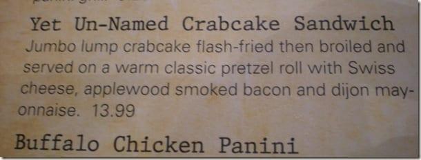 menu info crab cake