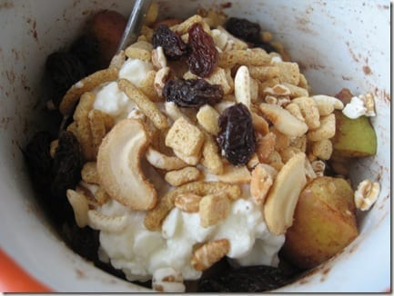 trail mix cottage cheese