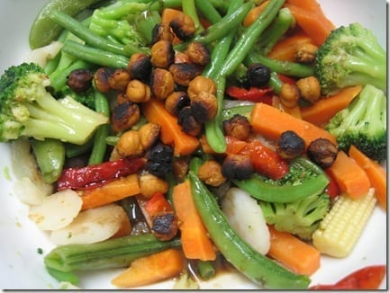 chickpeas with veggies