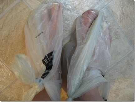 feet in bag