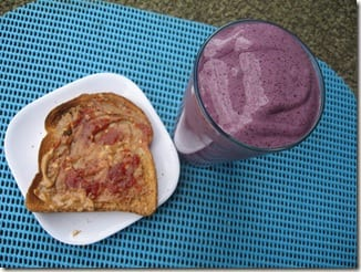 smoothie and toast
