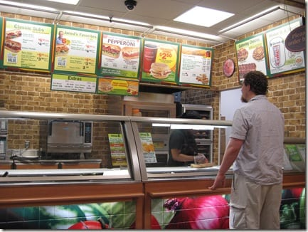 Ben at Subway
