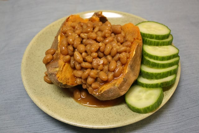 Beans and Sweet Potatoes