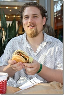 Ben with hamburger