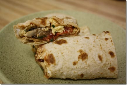 egg scramble wrap