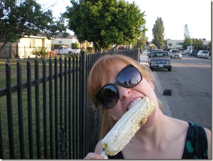 monicaeatingcorn thumb The New Elote Man