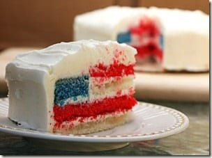 flagcakepiece thumb Fourth of July Desserts