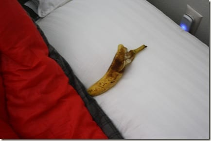 I sleep with a banana