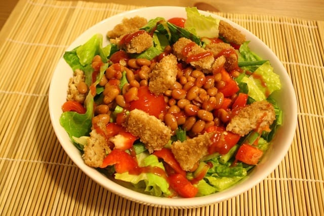 Baked Beans On Salad