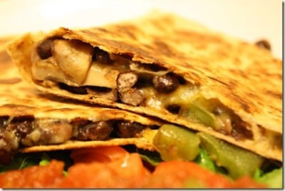 black bean quesadillas 400x268 Meatless Monday