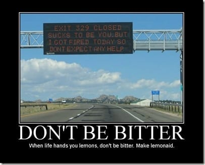 dont be bitter