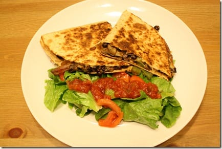 IMG 2696 thumb Mexican Meatless Monday – Black Bean Quesadillas