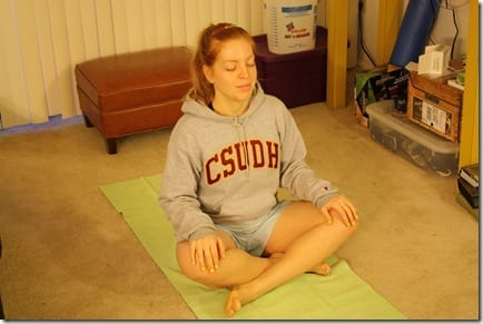 monica sitting yoga