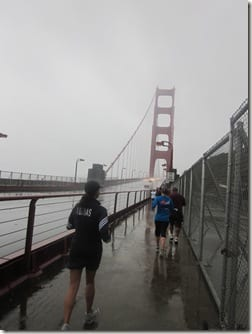 Rain on Golden Gate Bridge