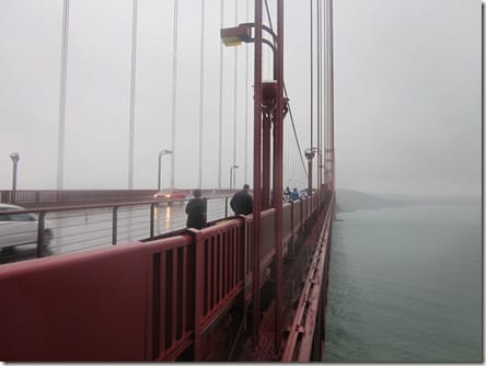 close up Golden Gate Bridge