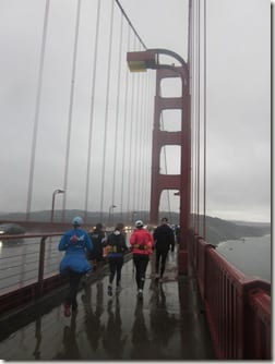 running on Golden Gate Bridge