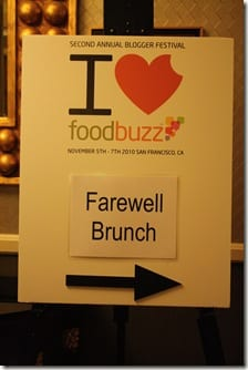 Foodbuzz Farewell Brunch