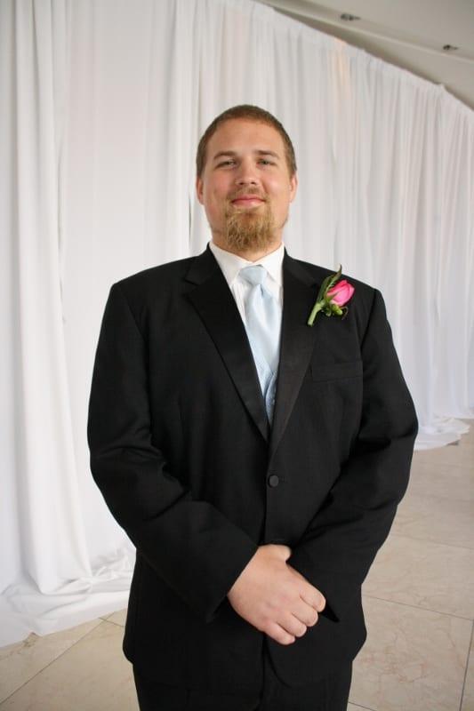 Ben  in a suit