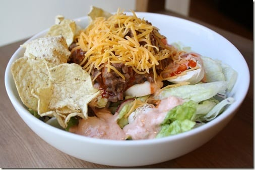 home made taco salad