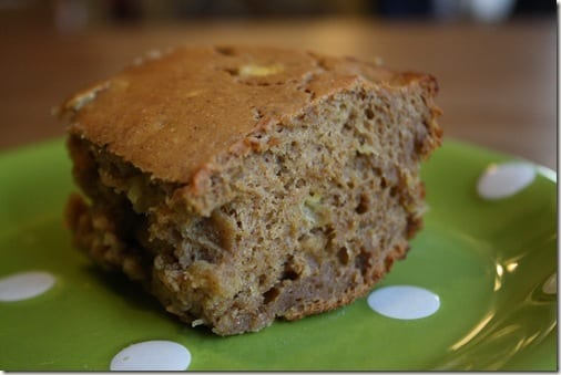 low carb Banana cake with peanut flour contains gluten