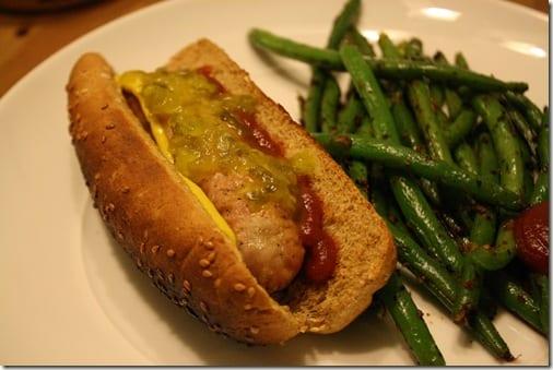 hot dog for dinner