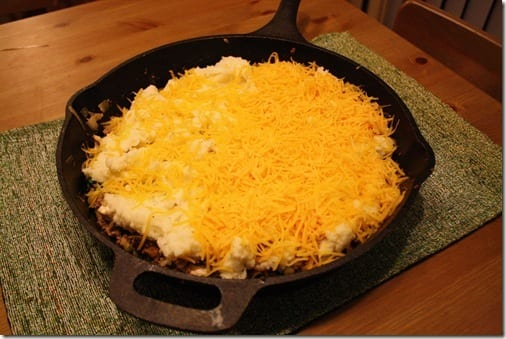 Shepherd's Pie with cheese
