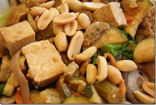 peanuts on stir fry