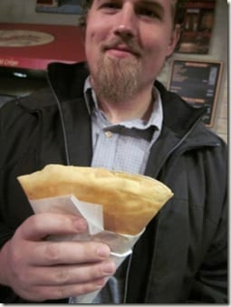 Ben with crepe