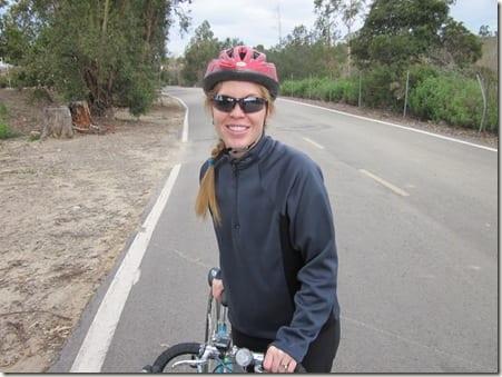Monica with bike