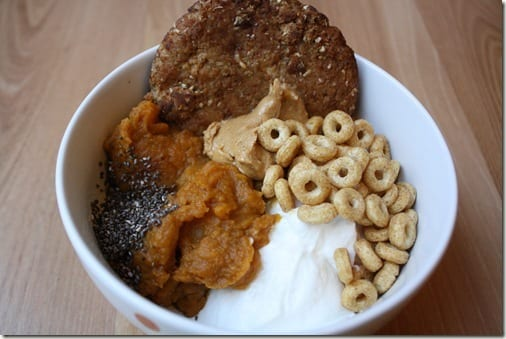 yogurt with pumpkin