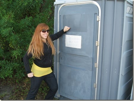 It's not normal to take a porta potty picture?