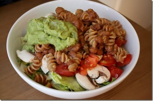 refried bean pasta