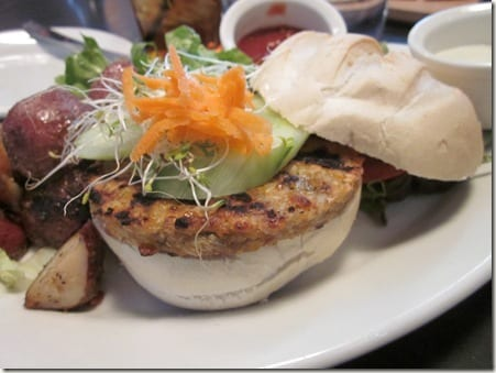 Tory Row veggie burger