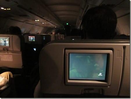in flight TV