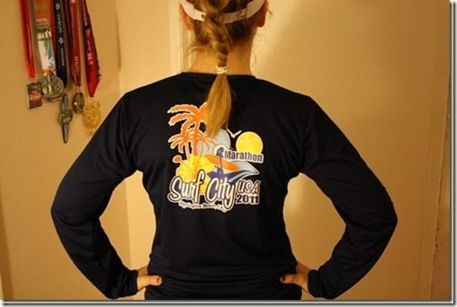 surf city marathon shirt back