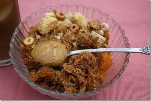 muffin and yogurt breakfast bowl