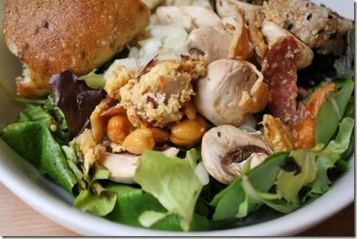 cashew stirfry salad