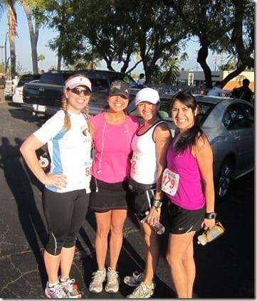 the girls before the run