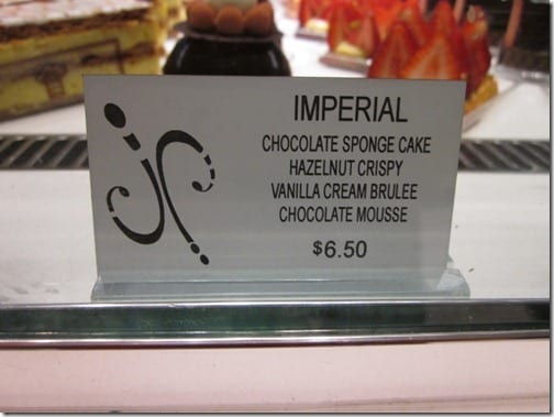 imperial dessert at aria