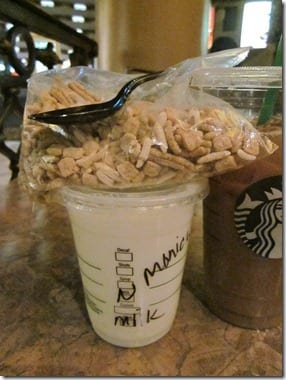 milk and cereal Starbucks