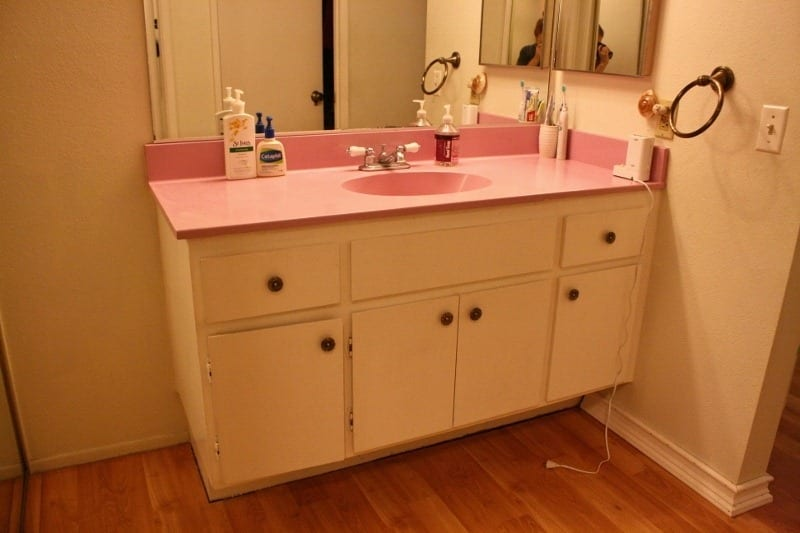 The Pink Bathroom Sink