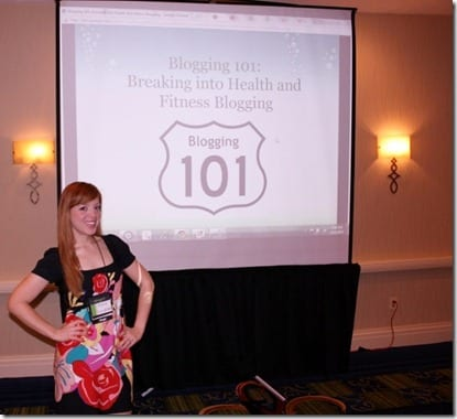 Blogging 101 at Fitbloggin Conference