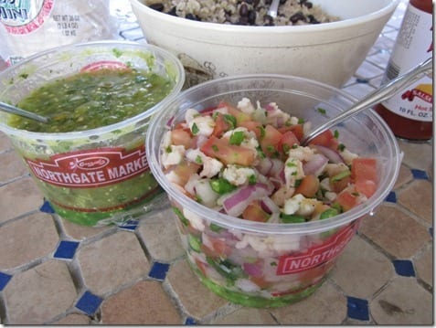 green salsa and ceviche